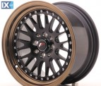 Japan Racing Wheels JR10 Matt Black Bronze Lip  15*8