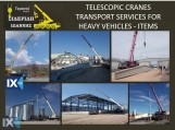 TRANSPORT SERVICES WITH CRANES